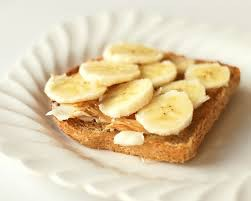 A slice of Whole grain toast, Nut butter & Bananas
